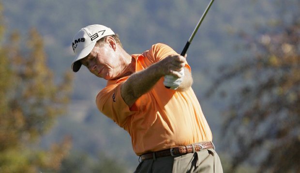 Tom Watson hits a shot at the Charles Schwab Cup Championship in October.