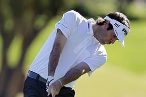 Bubba Watson at the 2010 Bob hope classic sporting Travis Mathew.