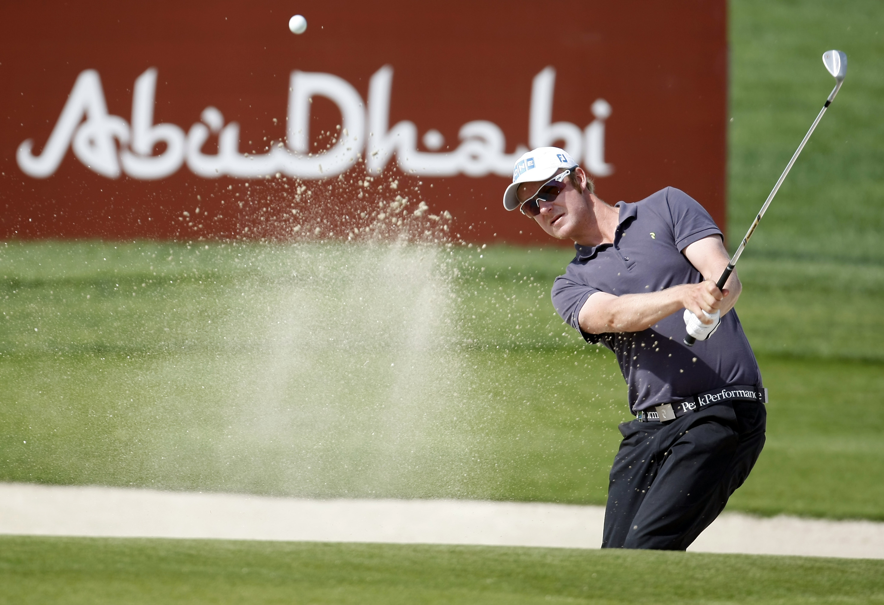 Mikko Ilonen during the first round of the Abu Dhabi Championship.