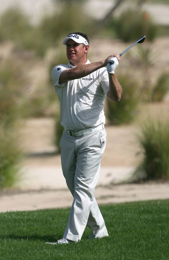 Lee Westwood, seen here during the second round of the Qatar Masters.
