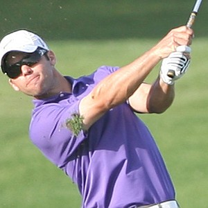 Paul Casey drives the ball to the 18th hole during the third round of the Qatar Masters.