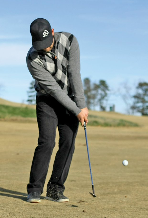Practicing simple chips allows Moore to focus on fundamentals.