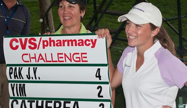 Though she missed the cut at the CVS/Pharmacy LPGA Challenge, Cathrea made a hole-in-one during the first round.