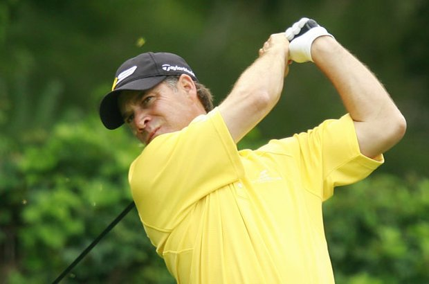 Scott McCarron hits a tee shot during the 2009 Northern Trust Open.