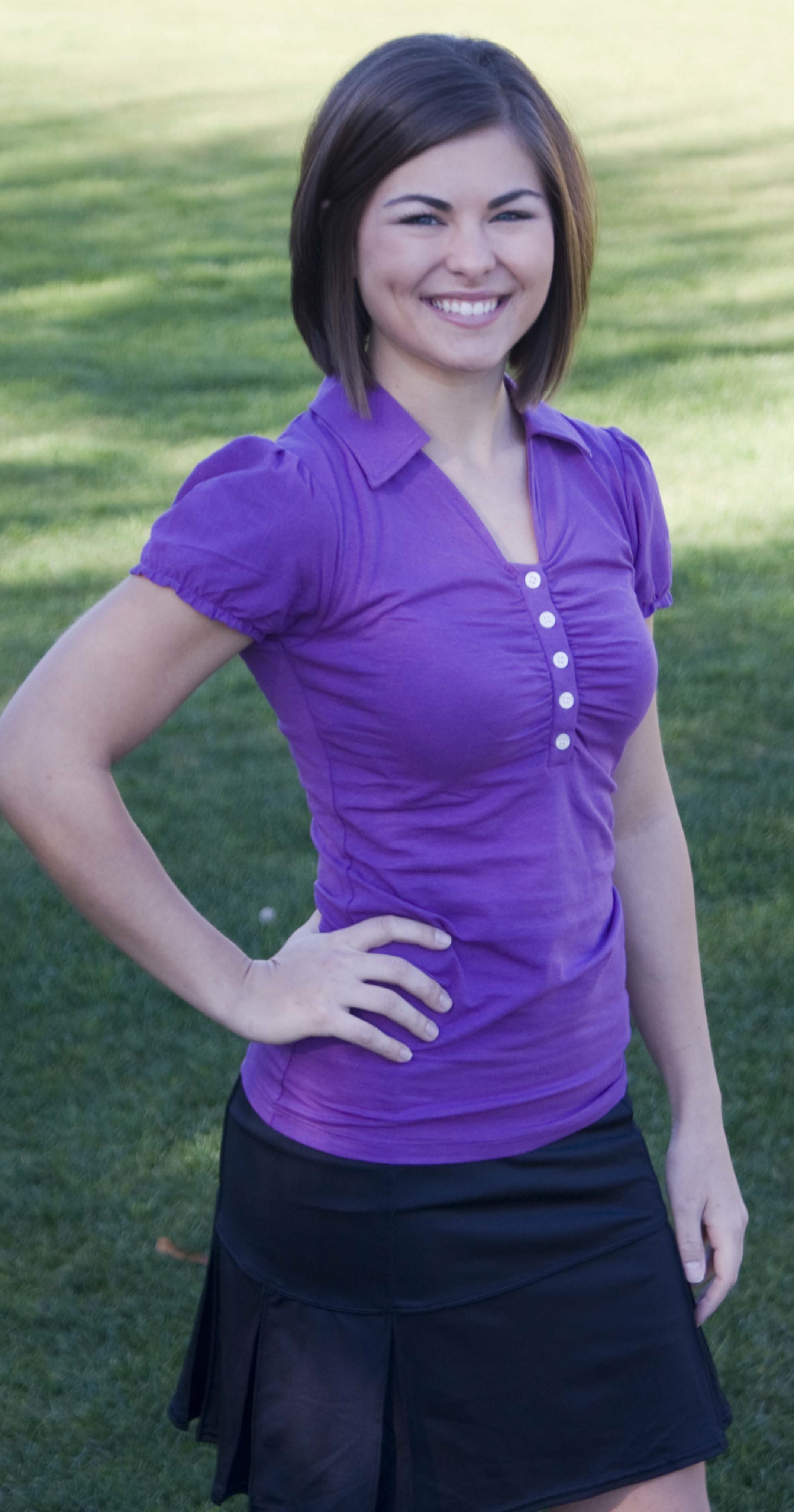 The Abbey polo from Donna Bonn Designs.