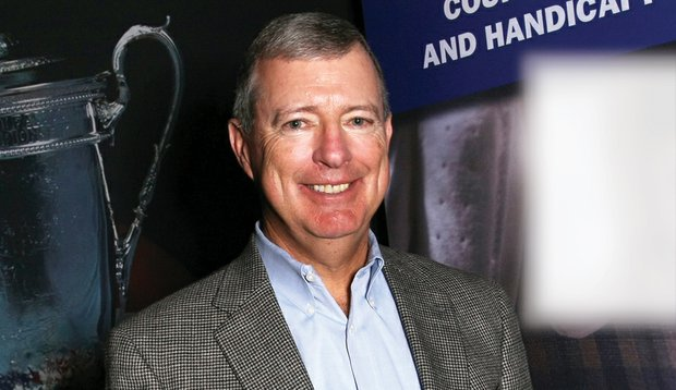 USGA President Jim Hyler says Tee It Forward is showing early signs of success. Here he is photographed at the PGA Merchandise Show.
