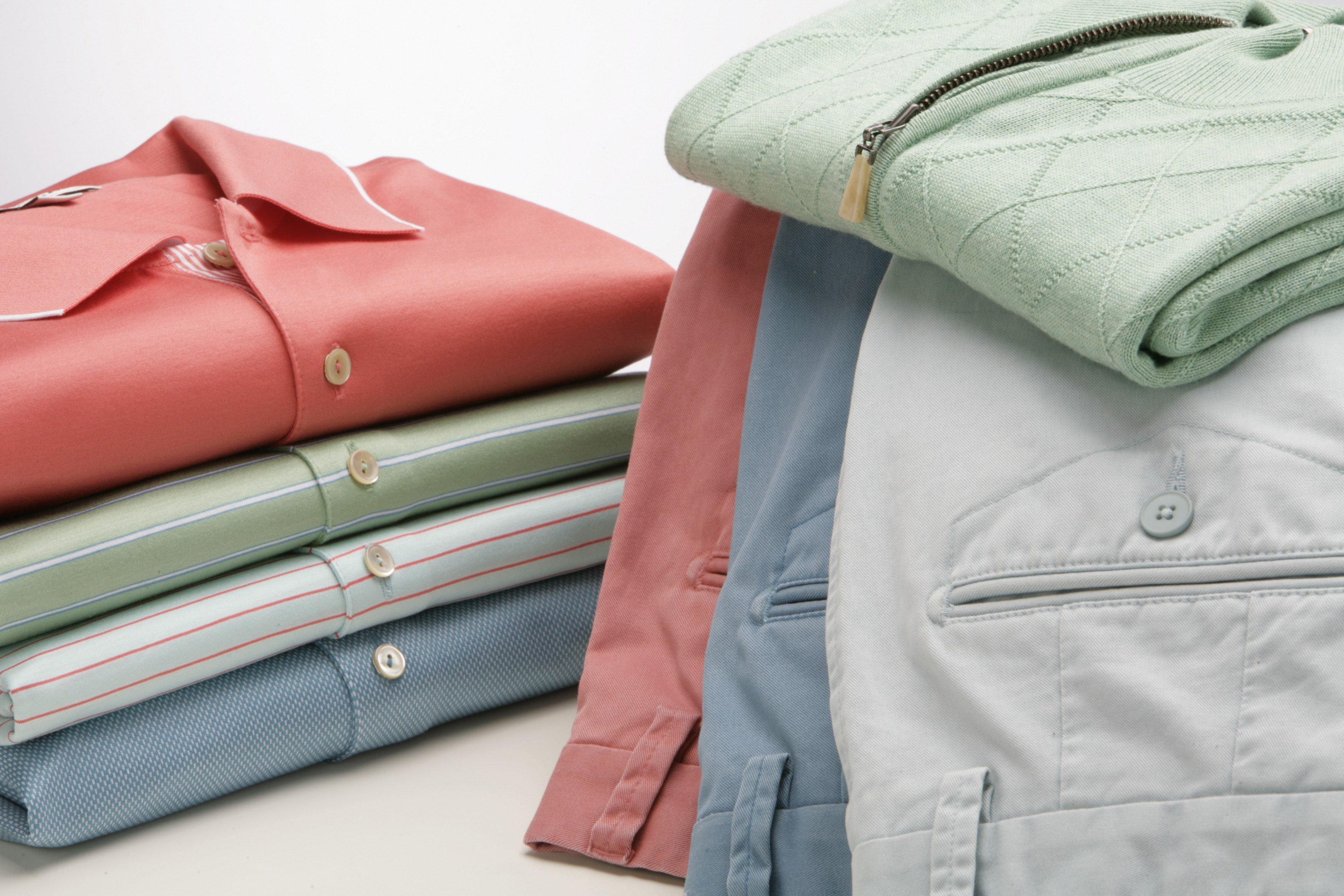 The Peter Millar line features an assortment of bright colors.