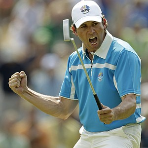 Sergio Garcia at the 2008 Ryder Cup at Valhalla Golf Club.