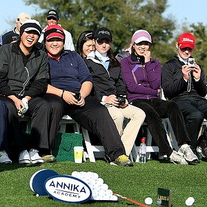 After Saturday's first round, players took part in a clinic with Annika Sorenstam at her academy.