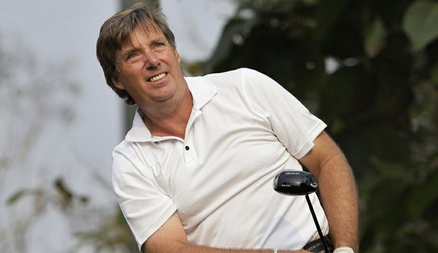 Barry Lane, 49, could become the oldest player to win a European Tour event.