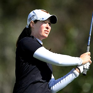 Laetitia Beck shares the lead with Victoria Tanco after Round 2.