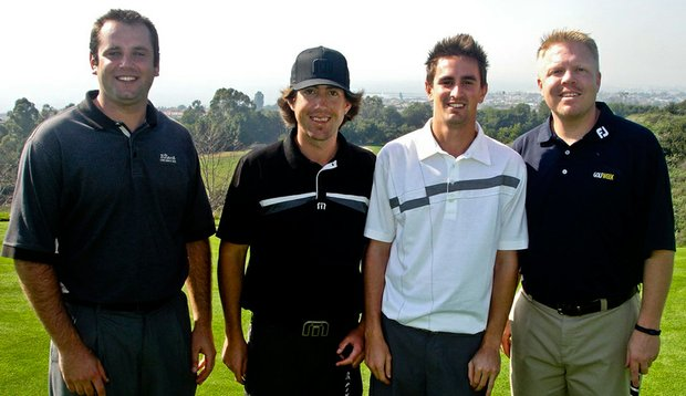 Ryan Ritter, Brett Lederer, Zac Vinal and Lance Ringler at the Battle of the Beach College-Am.