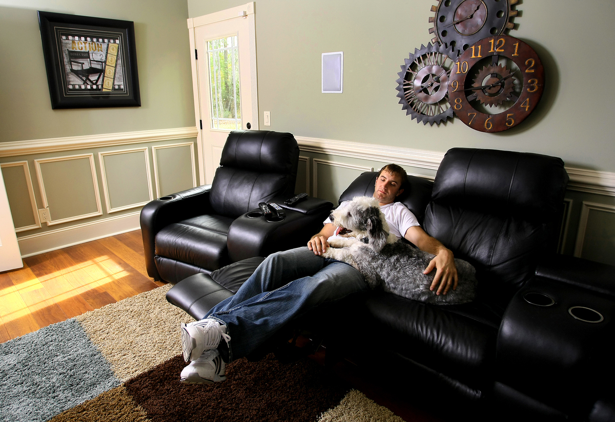 Dustin Johnson relaxes at home in Myrtle Beach, S.C.