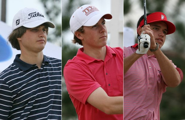 (From left to right) Monday's final group: Bobby Wyatt, Jordan Spieth and Corey Whitsett.