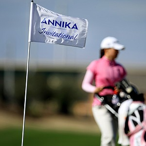 Victoria Tanco walks up to No. 17 during the final round of the Annika Invitational at Reunion Resort. Tanco won   the event.
