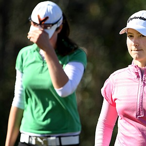 Victoria Tanco, right, shot a 72 to win by 3-shots over Laetitia Beck, left, during the final round of the Annika Invitational.