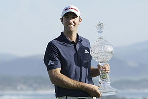 Dustin Johnson wins back-to-back at Pebble Beach.