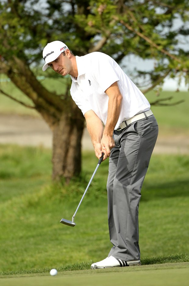 Dustin Johnson during Round 2 at the AT&T Pebble Beach National Pro-Am.