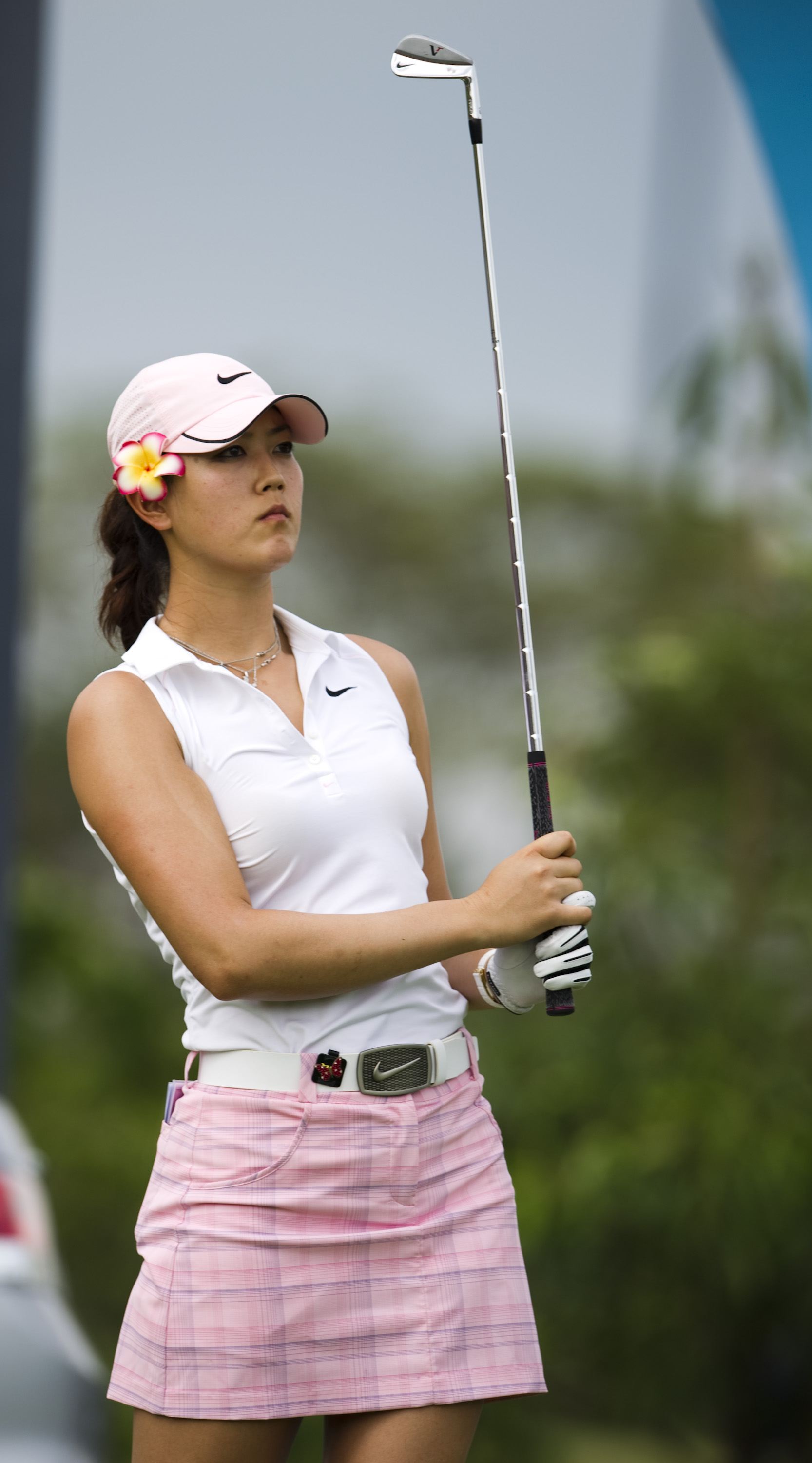 Michelle Wie during the first round of the Honda PTT LPGA Thailand.
