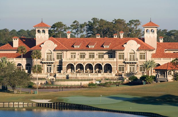 A view of the clubhouse at TPC Sawgrass in Ponte Vedra Beach, Fla.