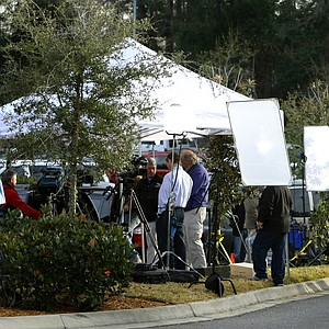 Media frenzy outside the Sawgrass Marriott in Ponte Vedra Beach, Fla.