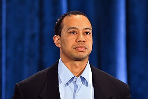 Tiger Woods during his statement at the Sawgrass Players Club, Friday, Feb. 19, 2010, in Ponte Vedra Beach, Fla.