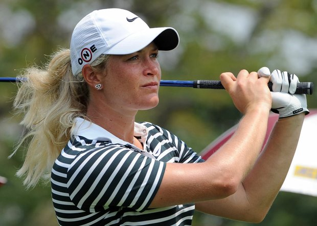 Suzann Pettersen finished the first two rounds with a 14-under 130 total, a tournament record.