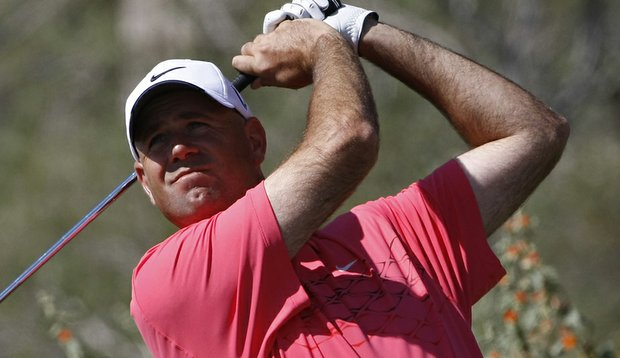 Stewart Cink defeated Charl Schwartzel in 19 holes Friday at the Accenture Match Play Championship.