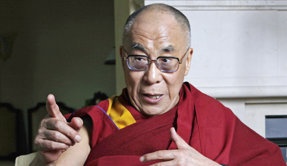 The Dalai Lama during a visit to Beverly Hills, Calif.