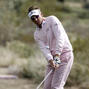 Ian Poulter goes head-to-toe in pink.