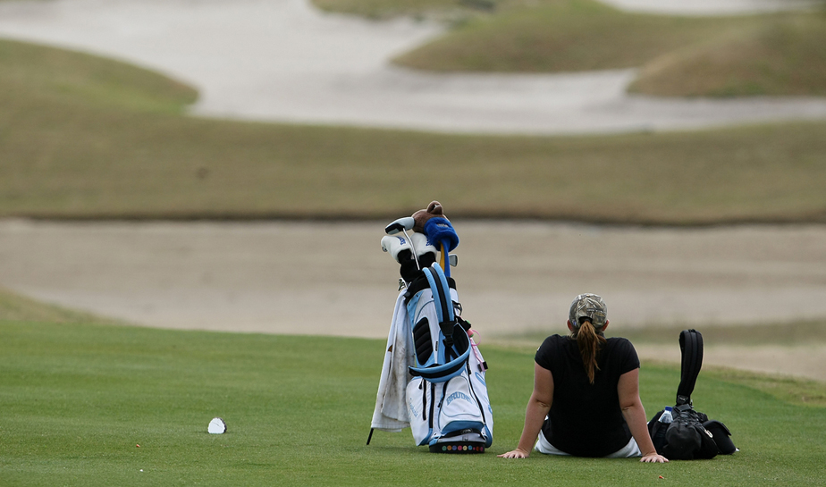 Stephanie Connelly waits to hit a shot during the 2009 UCF Challenge.
