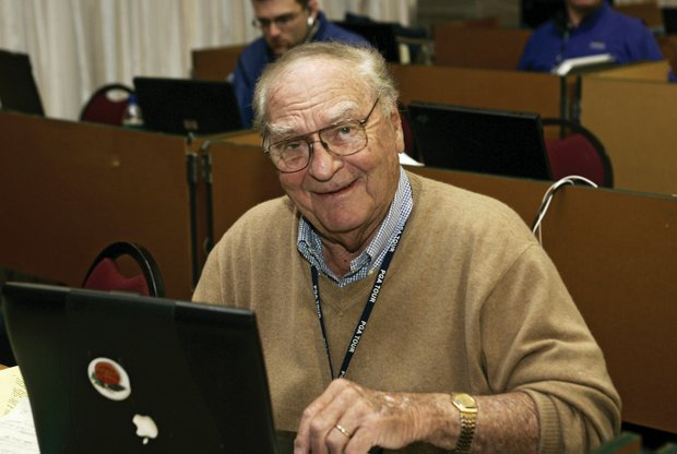 Furman Bisher of the Atlanta Journal Constitution has covered every Masters since 1950.