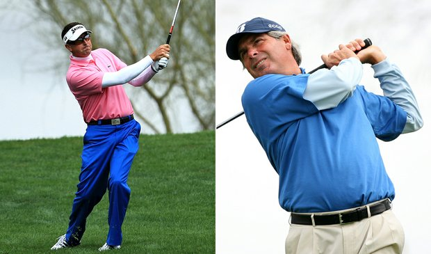 Robert Allenby and Fred Couples at the Phoenix Open.