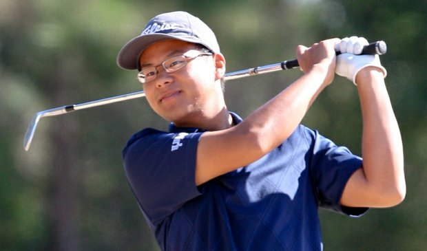 North Florida sophomore Joe Byun shoots 69 Monday at the John Hayt Collegiate Invitational.
