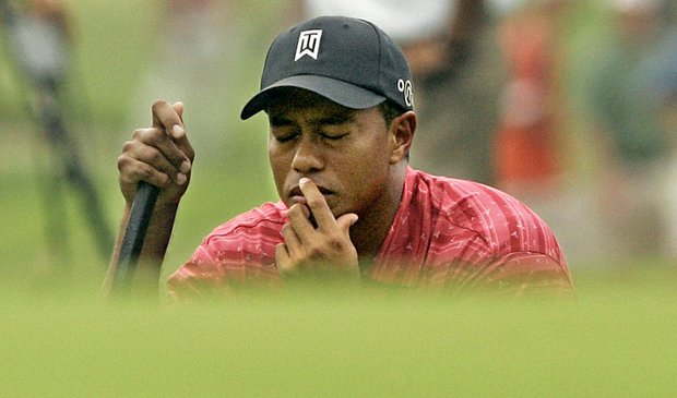 Tiger Woods at the 2005 U.S. Open at Pinehurst.