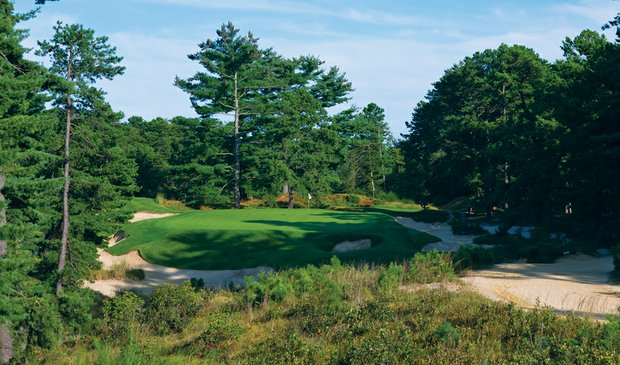 Pine Valley (10th hole pictured) is No. 1 on the Classic list.