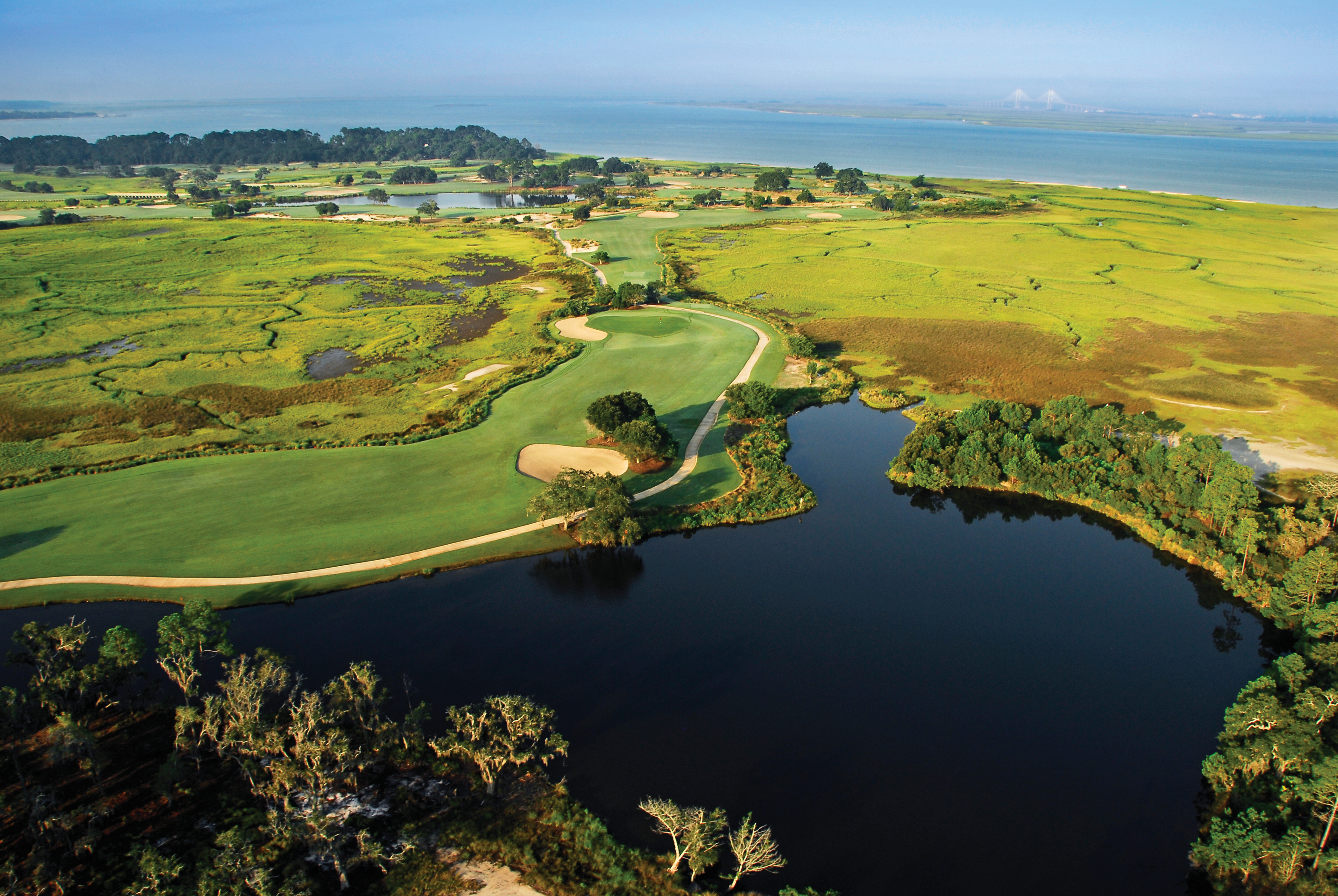 The Seaside Course at Sea Island Golf Club, the second-ranked public access course in Georgia.