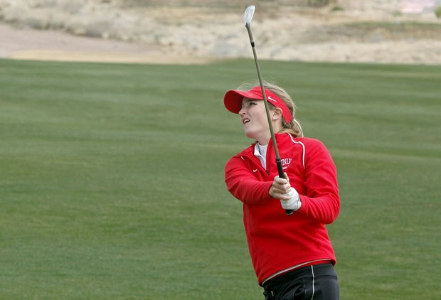 UNLV junior Therese Koelbaek shots rounds of 68-71-71 (6 under) to win her third collegiate title.