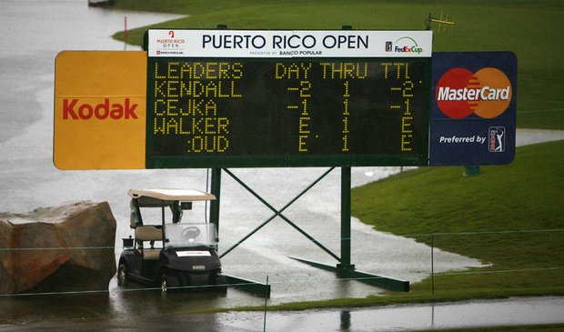 Skip Kendall is the early leader at the Puerto Rico Open, which was postponed Thursday because of rain.