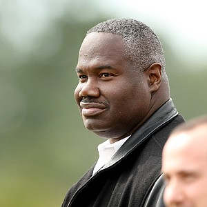 Univeristy of Central Florida athletic director, Keith Tribble, watches play at the Rio Pinar Invitational on Tuesday.