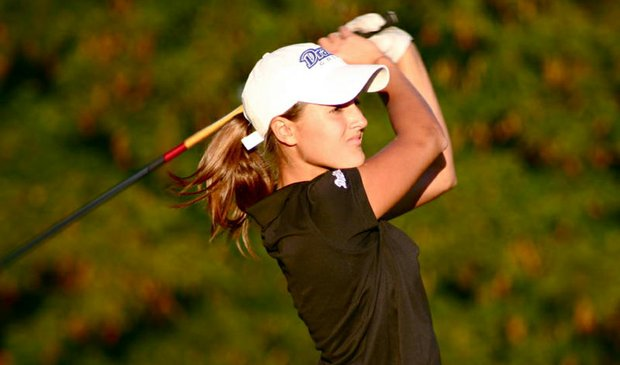 Drake senior Olivia Lansing picked up the sixth victory of her career Tuesday at the Jackrabbit Invitational.