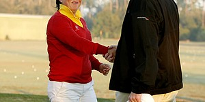 LPGA commish caddies on Futures Tour