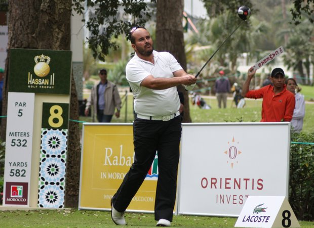 Faycal Serghini is the leading Moroccan at the Hassan II Trophy.