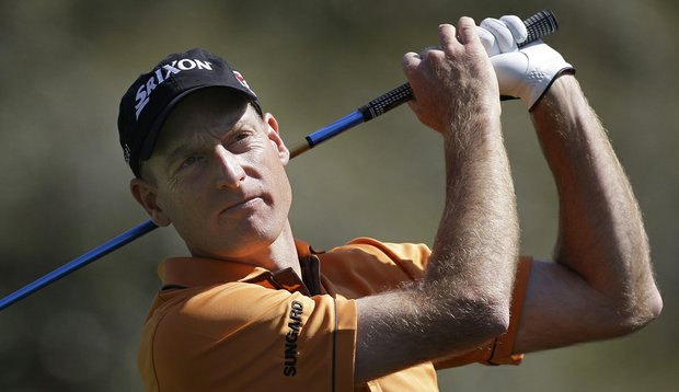 Jim Furyk built a three-shot lead Saturday at the Transitions Championship.