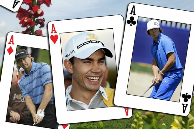 (From left to right) Retief Goosen, Camilo Villegas and Rickie Fowler.