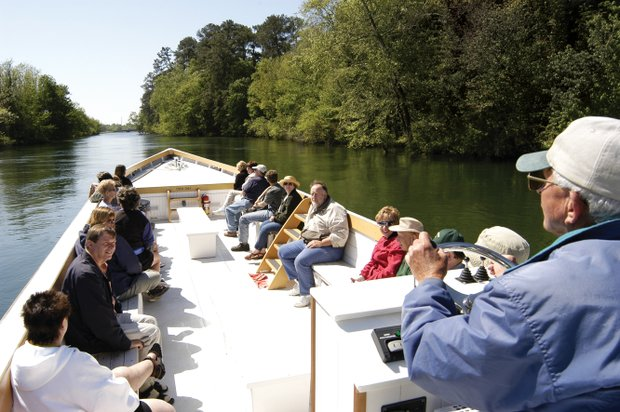 A boat tour on the Augusta Canal.