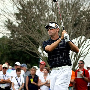 Robert Allenby dropped to fifth place after a double bogey at No. 18.