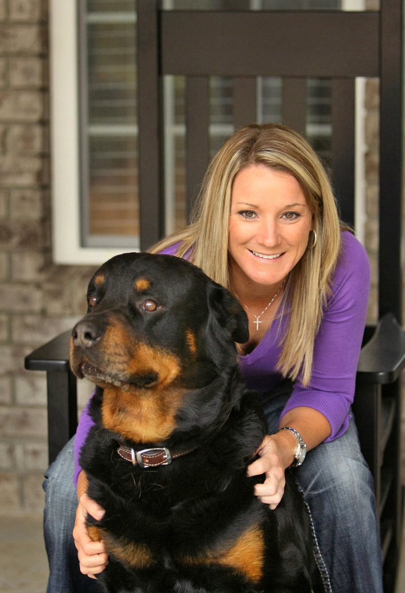 Kristy McPherson and her dog, Max.