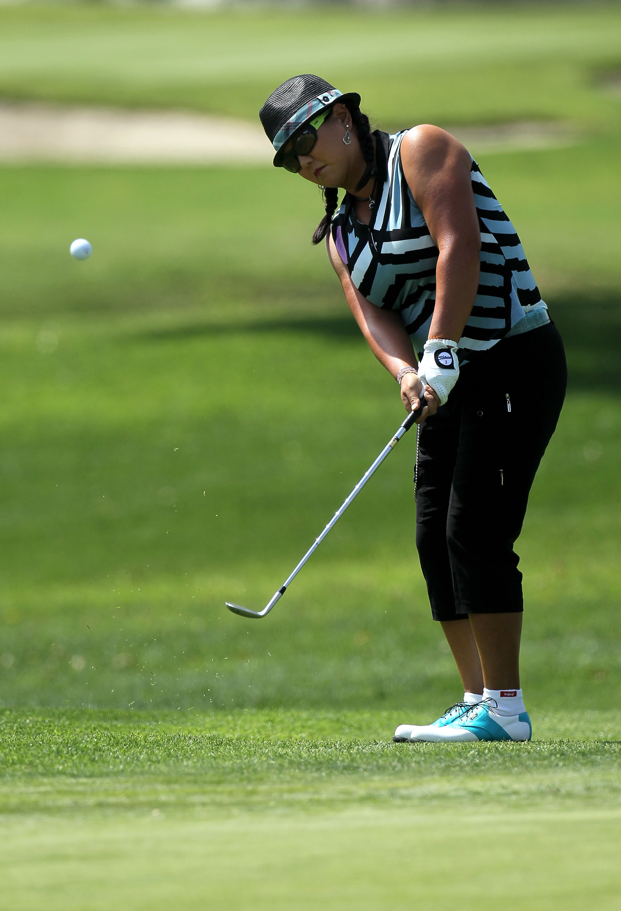 Christina Kim is donning a new look this week at the Kia Classic.