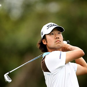 Kevin Na got himself to second place prior to Sunday's rain delay.